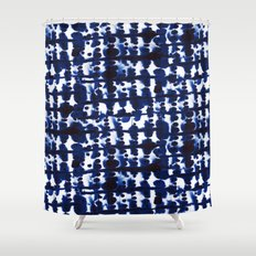 Parallel Indigo Shower Curtain