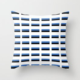 Flag of estonia -estonian,baltic,tallinn,tartu,eesti,balti,slav,viking,baltico,parnu Throw Pillow
