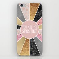 you are my sunshine iPhone & iPod Skins featuring You are my sunshine by Elisabeth Fredriksson