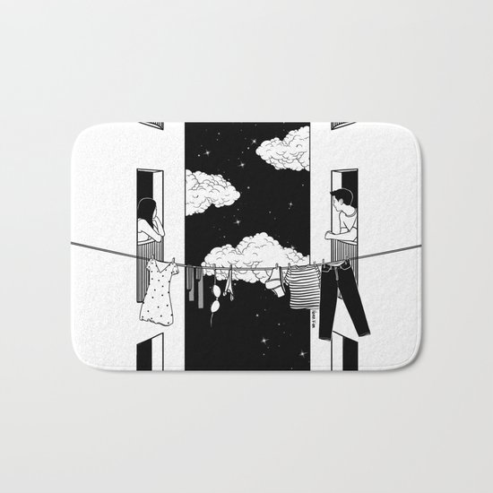 Thinking about you Bath Mat