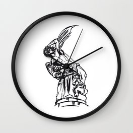 Angel Caido Wall Clock