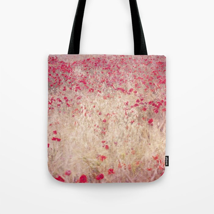 Fields of poppies Tote Bag
