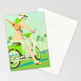 Ukulele Girl Stationery Cards