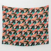 sushi Wall Tapestries featuring Sushi Panda by Tobe Fonseca