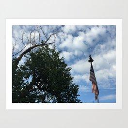 clouds & tattered patriotism Art Print