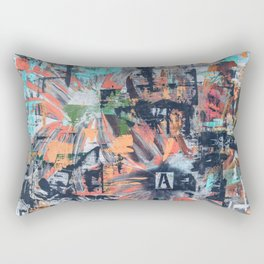 Floral Inversion  Rectangular Pillow