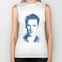 benedict Biker Tanks featuring Benedict Cumberbatch by Chadlonius