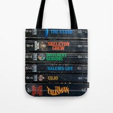 Stephen King Well-Worn Paperbacks Tote Bag