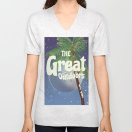 The Great Outdoors Moon Unisex V-Neck