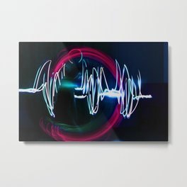 Sound Waves Metal Print