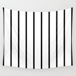 Vertical Lines (Black & White Pattern) Wall Tapestry