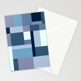 Abstract #387 Blue Harmony Stationery Cards