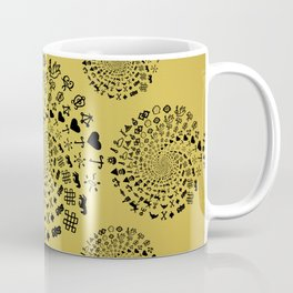 Mandala of Love Symbols from Ancient Cultures on Papyrus Coffee Mug