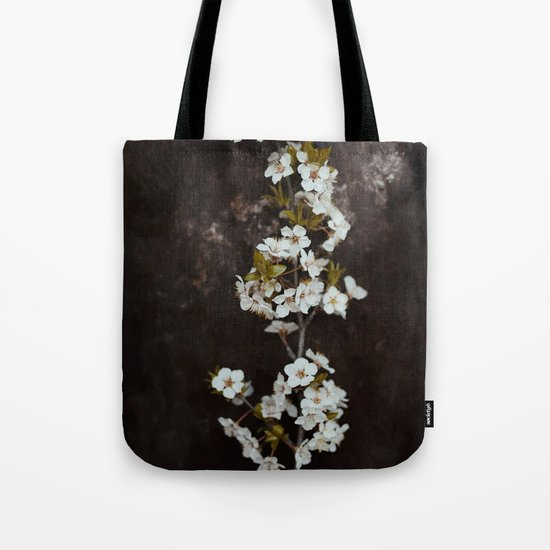 Cherry Blossom on black  Tote Bag