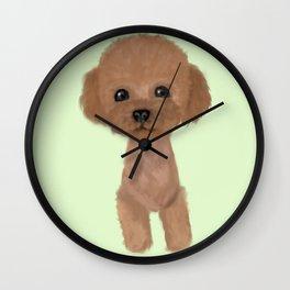 poodle hair cut Wall Clock
