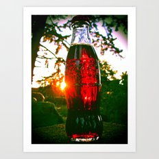 Cola sunset Art Print
