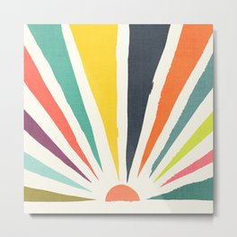 Rainbow ray Metal Print