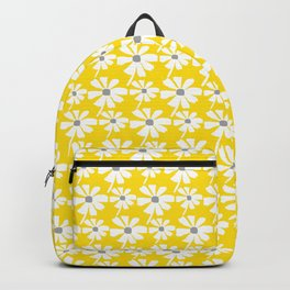 Daisies In The Summer Breeze - Yellow White Grey Backpack