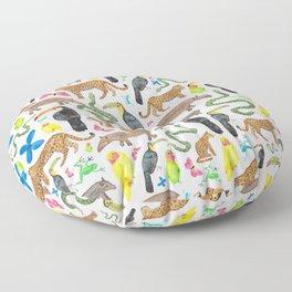 Jungle/Exotic Animals Floor Pillow