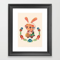 The Cute Bunny in Polish Costume Framed Art Print