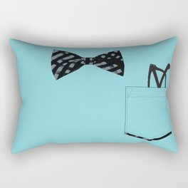 Bow tie and pocket Rectangular Pillow