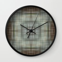 Modern Abstract Plaid Wall Clock
