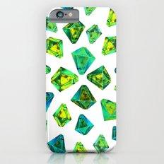 Green beautiful hand drawn gems. Slim Case iPhone 6s