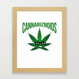Cannabiznoids Logo Framed Art Print