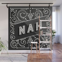 Nah – Black & Grey Palette Wall Mural
