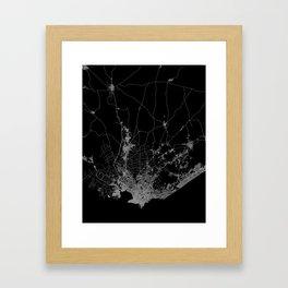 Montevideo map Uruguay Framed Art Print