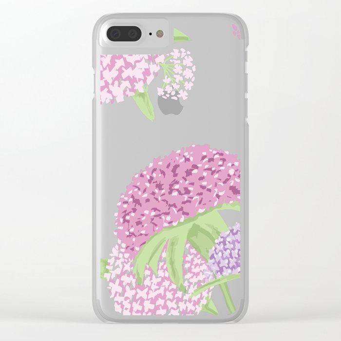 Beautiful hydrangeas Clear iPhone Case