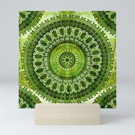 Vintage Lime Mandala Mini Art Print