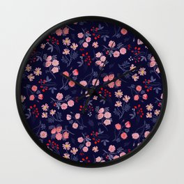 Night of the Roses Wall Clock