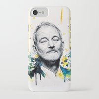 bill murray iPhone & iPod Cases featuring Bill Murray by Denise Esposito
