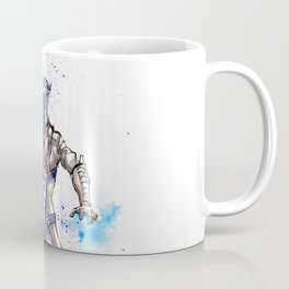 Liara from Mass Effect sumi style with calligraphy Coffee Mug