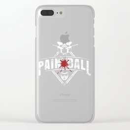 Painball Paintball Gift Clear iPhone Case