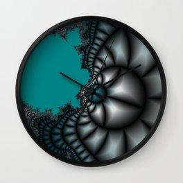 Blue shale fractal Wall Clock