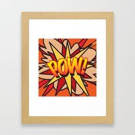 Comic Book POW! Framed Art Print