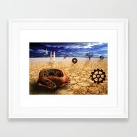 surrealism Framed Art Prints featuring surrealism  by mark ashkenazi