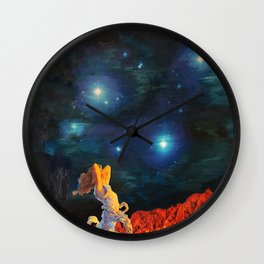 Earth Gazer Wall Clock