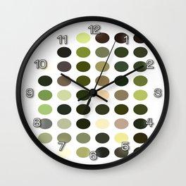 Cactus Garden Dots Wall Clock