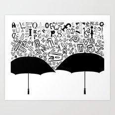 Letter Rain Art Print