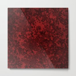 Sangria Red Hybrid Camo Pattern Design Metal Print