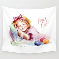 easter Wall Tapestries featuring Easter by tatiana-teni