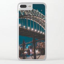 Blue Hour Harbour Bridge - Sydney Clear iPhone Case