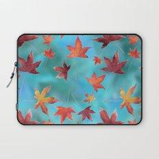 Dead Leaves over Cyan Laptop Sleeve