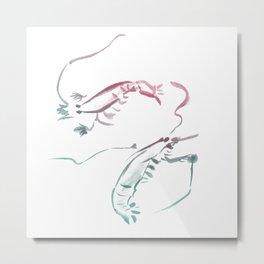 Shrimps dance Metal Print