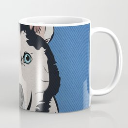 Icons of the Dog Park: Husky Design in Bold Colors for Pet Lovers Coffee Mug