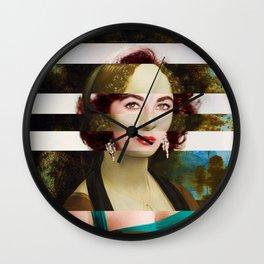 Leonardo Da Vinci's Portrait of Ginevra Benci & Liz Taylor Wall Clock
