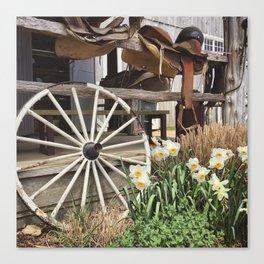 Rustic Farm Scene Canvas Print
